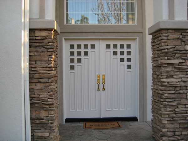image detail page for Custom contemporary painted double entry doors