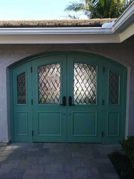 image detail page for Painted ellipse double entry door with diamond beveled glass and sidelights