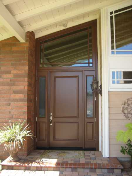 image detail page for Painted single entry door with transom