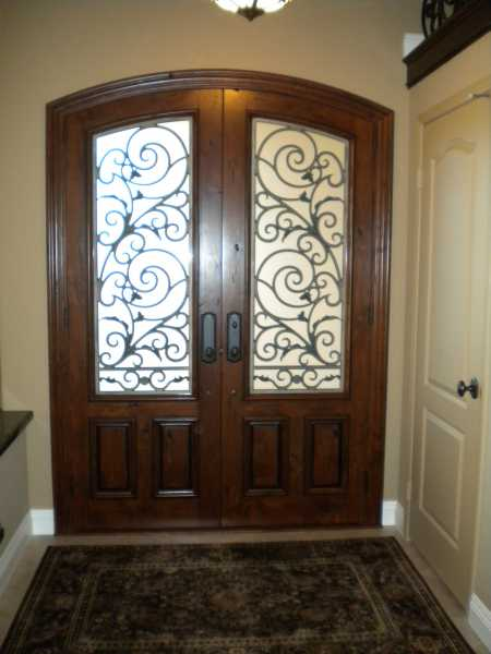 image detail page for Rustic knotty alder ellipse double entry door