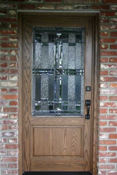 image detail page for Oak single entry door with custom glass