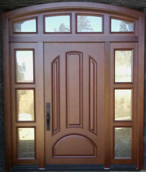 image detail page for Alder single entry door with sidelights and opaque glass
